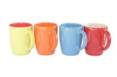 Colorful coffee mugs Stock Photo
