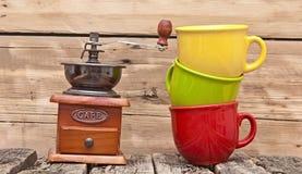 Colorful coffee mugs Stock Image