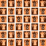 Colorful Coffeepot background isolated. A nice and colorful coffeepot background that can be used in all project about home or breakfast Royalty Free Stock Photos