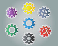 Colorful Cog Stock Images