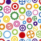 Colorful Cog Background. Seamless, Repeating Colorful Cog Background Stock Images