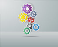 Colorful cog wheels Royalty Free Stock Image