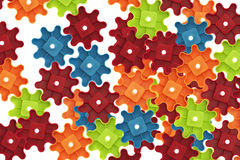 Colorful cogs toy Royalty Free Stock Photos