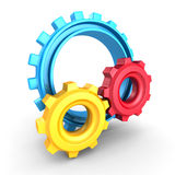 Colorful Cogwheel Gears on white background Royalty Free Stock Images