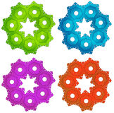 Colorful cogwheels Stock Image