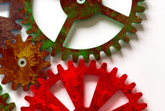 Colorful Cogwheels. On White Background Stock Image