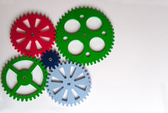 Colorful Cogwheels Stock Images