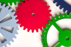 Colorful Cogwheels Royalty Free Stock Photos