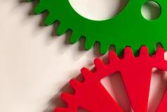 Colorful Cogwheels. On White Background Stock Photos