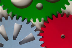 Colorful Cogwheels Royalty Free Stock Images