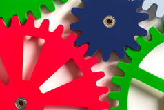 Colorful Cogwheels Stock Photography
