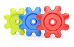 Colorful cogwheels Royalty Free Stock Photo