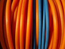Colorful coiled cables Royalty Free Stock Photo