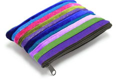 Colorful coins purse with zip Royalty Free Stock Images