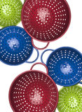 Colorful Colander Border or Background Image Stock Photo