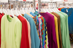 Colorful Colection of Women Cloth Hanging royalty free stock image