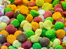 Colorful collage of candies and sweets Royalty Free Stock Images