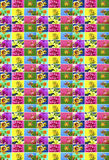 Colorful collage of flowers. Royalty Free Stock Image