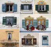 Colorful collage made of windows Stock Images
