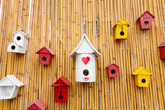 Colorful collection of birdhouses Stock Images