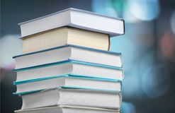 Colorful books collection, close-up view Stock Photo