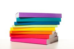 Colorful collection of the books stock photo