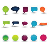 Colorful collection of Chat-box Royalty Free Stock Images
