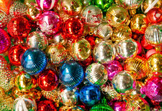 Colorful collection of Christmas Balls Stock Photo