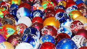 Colorful collection of Christmas Balls useful as a background pa Stock Photography
