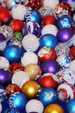 Colorful collection of Christmas Balls useful as a background pa Royalty Free Stock Photos