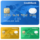 Colorful collection of credit cards Royalty Free Stock Images