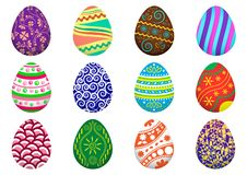 Colorful collection of Easter eggs. Vector illustration. Colorful collection of Easter eggs, isolated on white background. Vector illustration vector illustration