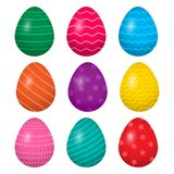 Colorful collection of Easter eggs. Vector illustration vector illustration