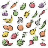 Fruits and vegetables Stock Photography
