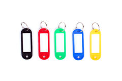 Colorful collection of a key fob on white background. Royalty Free Stock Photos