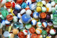 Colorful collection of marbles Stock Photos