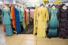 Colorful Collection of Muslimah Clothes Royalty Free Stock Image