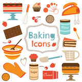 Colorful Collection Of Baking Items Royalty Free Stock Photography