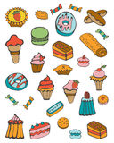 Colorful collection of sweet desserts Stock Image