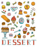 Colorful collection of sweet desserts Royalty Free Stock Image