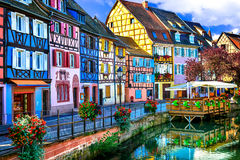 colorful Colmar town in Alsace. Royalty Free Stock Photo