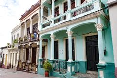 Colorful colonial architectur, Santiago de Cuba Royalty Free Stock Images