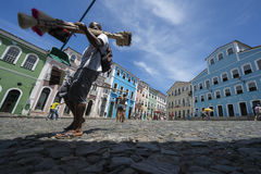 Colorful Colonial Architecture Pelourinho Salvador Brazil Stock Photography