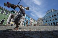 Colorful Colonial Architecture Pelourinho Salvador Brazil Stock Photography