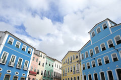 Colorful Colonial Architecture Pelourinho Salvador Brazil Stock Photo