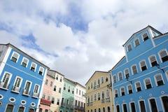 Colorful Colonial Architecture Pelourinho Salvador Brazil. Historic city center of Pelourinho Salvador da Bahia Brazil features colorful colonial architecture Stock Photo