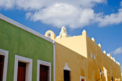 Colorful colonial houses Stock Image