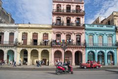 Colorful colonial architectur, Havana, Cuba Stock Images