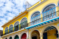 Colorful colonial houses in Old Havana Royalty Free Stock Images