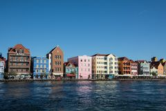 Colorful Colonial Houses in Willemstad, Curacao Royalty Free Stock Photos